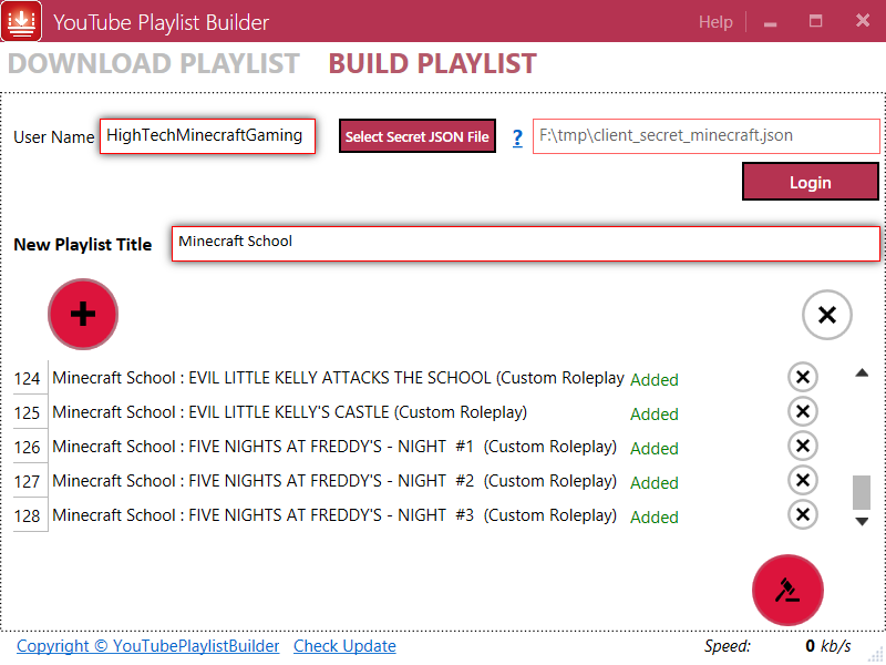 YouTubePlaylistBuilder - YouTube Playlist Builder, YouTube ...